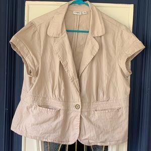 Women's XL short sleeve blazer